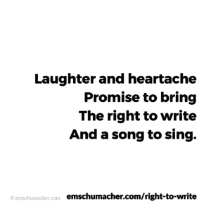 Right to Write — Half Chorus B