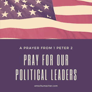 Pray for Our Political Leaders
